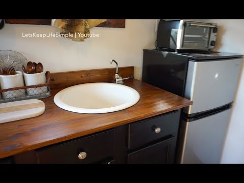 No Plumbing Off The Grid Sink Tiny House Youtube