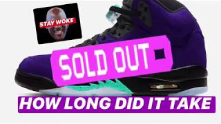 Jordan 5 Purple Grapes Sold Out on SNKRS  🤔