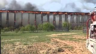 Железная дорога рушится изза пожара