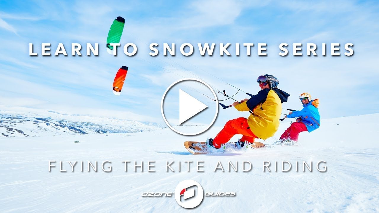 Learn To Snowkite - RIDING