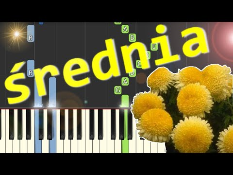 🎹 Chryzantemy złociste (wersja współczesna) - Piano Tutorial (średnia wersja) 🎹