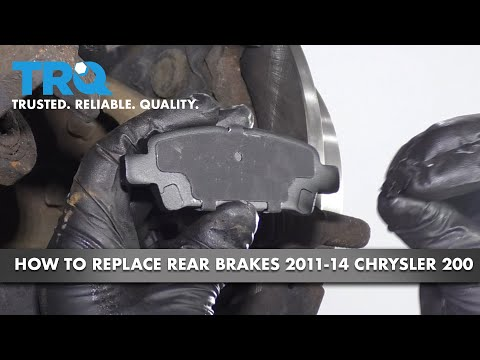 How to Replace Rear Brakes 11-14 Chrysler 200