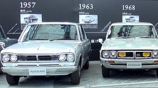 Historic car collection of Nissan Skyline