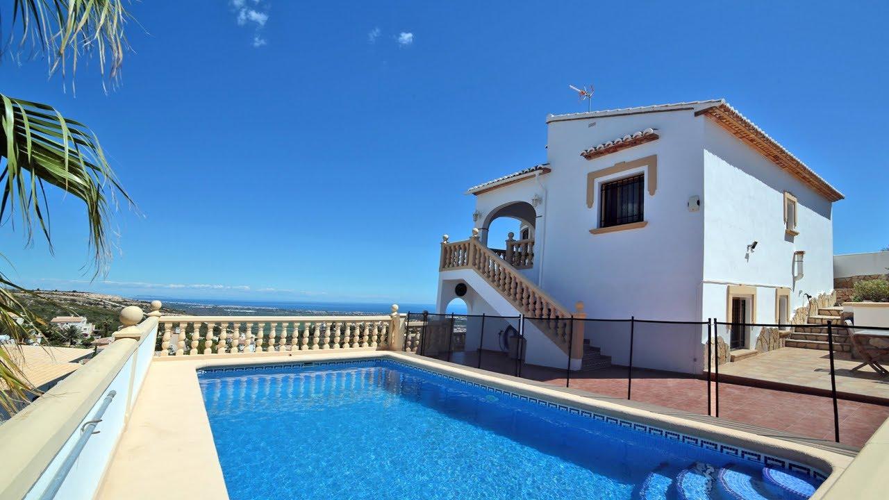 A vendre villa de 3 chambre avec piscine et vue mer - Villa a louer en espagne avec piscine ...