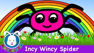 Incy Wincy Spider - Nursery Rhymes with lyrics
