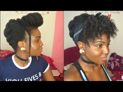 updo styles natural