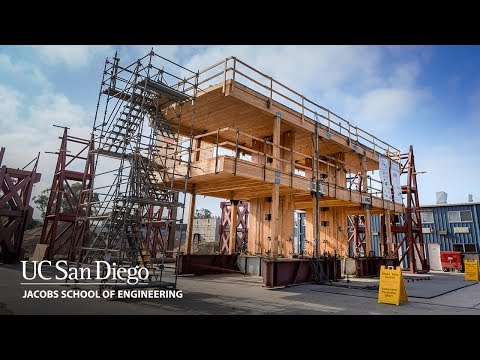 Earthquake Shake Tests at UC San Diego Toward 20-story Earthquake-safe Buildings Made from Wood