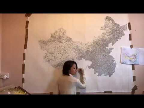 Map of China drawing time-lapse