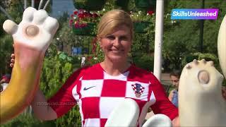 Is most beautiful president in the world a football fan President Croatian