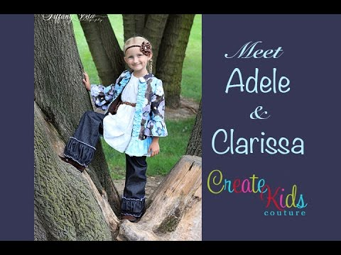 Adele's Jacket & Clarissa's Pants Patterns From Create Kids Couture