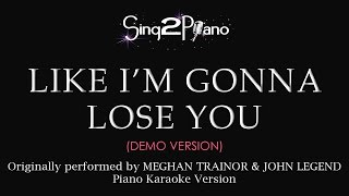 Baixar - Like I M Gonna Lose You Piano Karaoke Demo Grátis