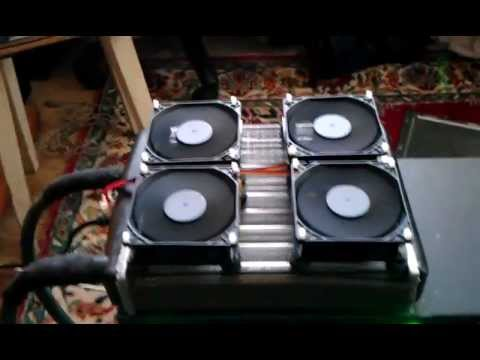 видео: самодельное водяное охлаждения для radeon hd 2900 pro