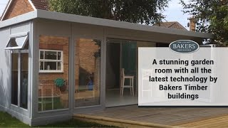 A Stunning Garden Room With All The Latest Technology By Bakers Timber Buildings