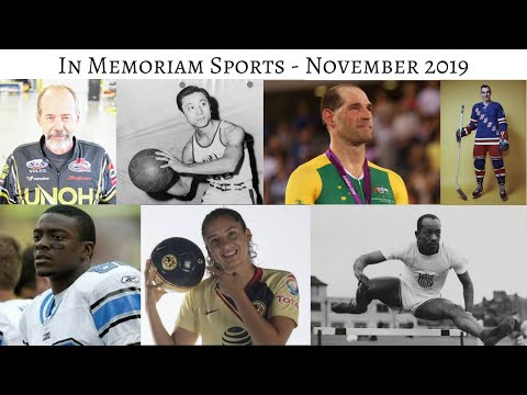 In Memoriam Sports November 2019 #InMemoriam #Sports
