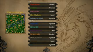 Warcraft 3: 5 players vs 7 players