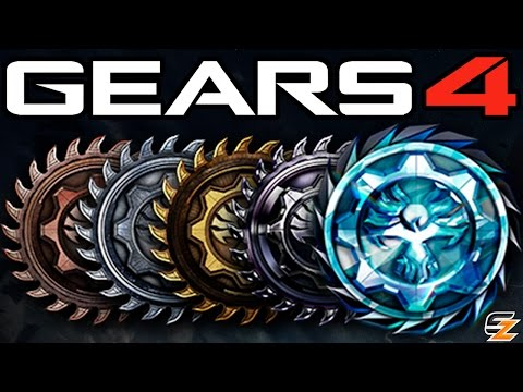 Gears of War 4 - Ranking System Explained! Ranks Progressions Bar, KD Stats & More!