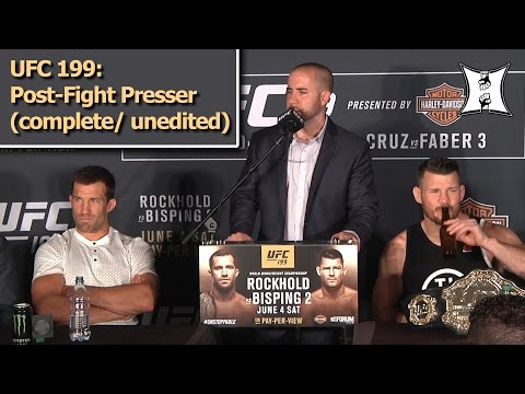 UFC 199: Bisping KOs Rockhold! Cruz Beats Faber Again! Post-Fight Press Conference (LIVE!)