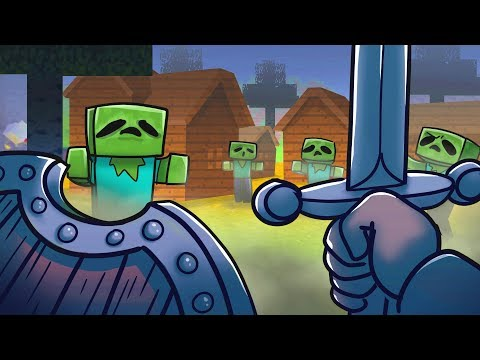 Minecraft Dragons - SAVING VILLAGE FROM ZOMBIE HORDE!