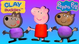 Peppa Pig Clay Buddies Blind Bags How To Make Peppa Pig Play Doh DCTC Episode Plastilina Juguetes