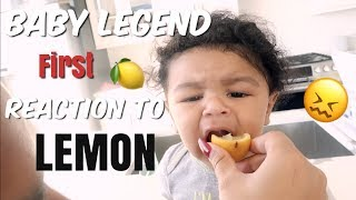 BABY LEGEND REACTS TO HIS 1ST LEMON! | WE PUT HIM IN BABY SCHOOL