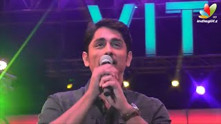 Siddharth entertains VIT College Students with song and dance