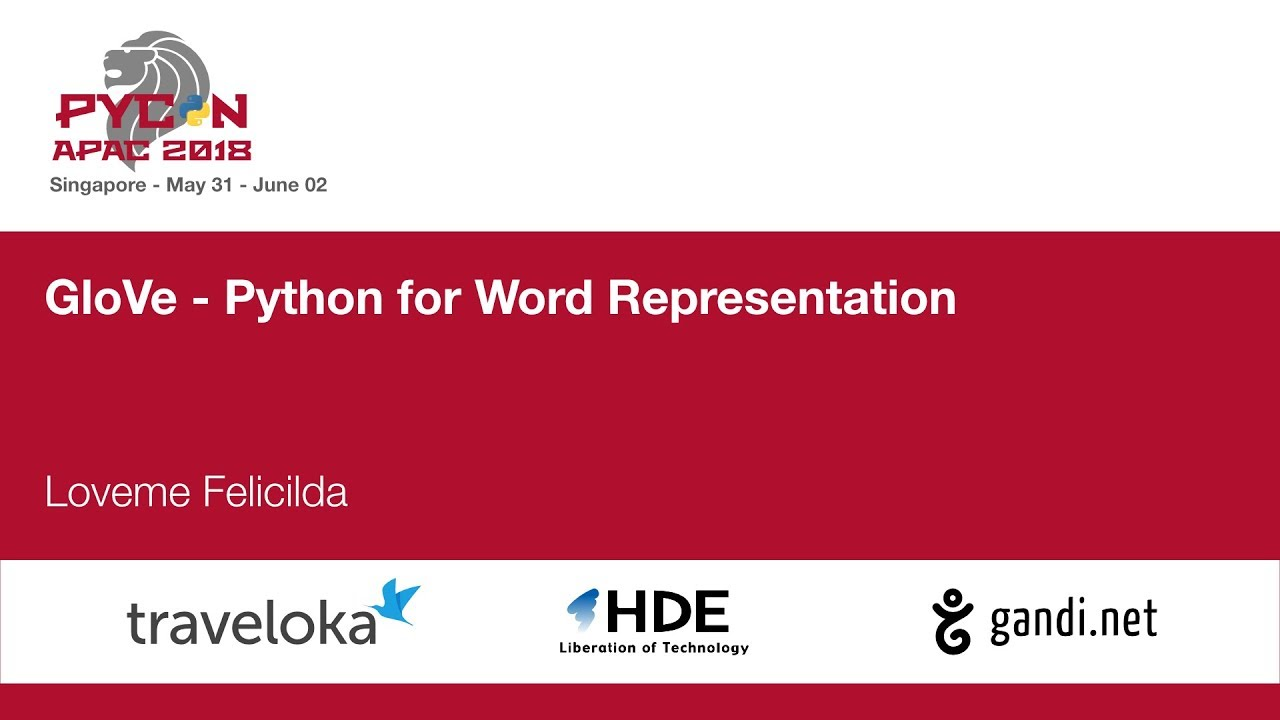 Image from GloVe - Python for Word Representation