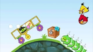 Bad Piggies - NINJA PIG RIDING TO TAKE CRATE AND MEET ANGRY BIRDS!