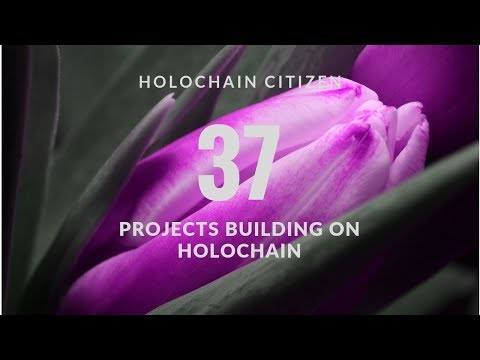 37 Projects Building on Holochain