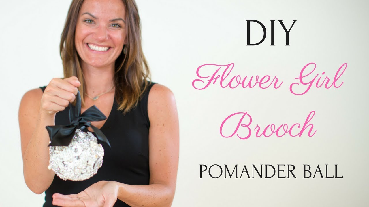 Flower Girl Pomander Ball Brooch Bouquet Style Diy Wedding Tutorial