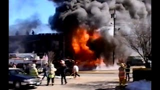 Cliffside Park NJ Fire Dept 508 Anderson Ave March 3rd 2003 heavy fire in a car dealership
