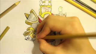 Clash Of Clans - How To Draw A Barbarian King From Clash Of Clans By 2Easy2Draw