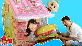 장난꾸러기 잭잭! 라임의 콩순이 케익하우스 텐트 장난감 놀이 | 인크레더블2