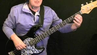 how to play bass guitar to Going Underground part 1