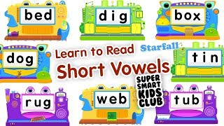 Short Vowels with StarFall Learn to Read on IPhone