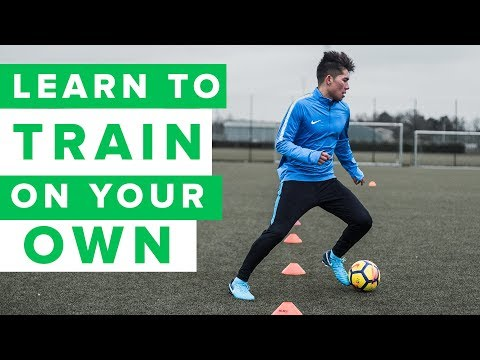 How to train on your own | 3 individual football training drills