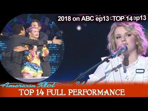 """Maddie Poppe sings """"Homeward Bound""""  SHE INSPIRED JUDGES GROUP HUG  American Idol 2018 Top 14"""