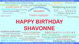 Shavonne   Languages Idiomas - Happy Birthday