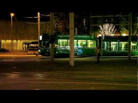 Trams at Basel SBB Station