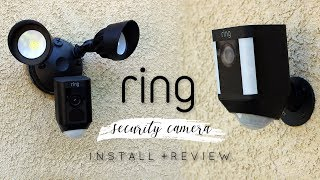 Ring Security Camera Install + Review