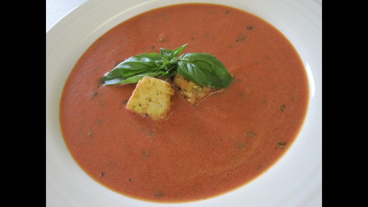 tomato soup how to make tomato basil soup recipe youtube. Black Bedroom Furniture Sets. Home Design Ideas