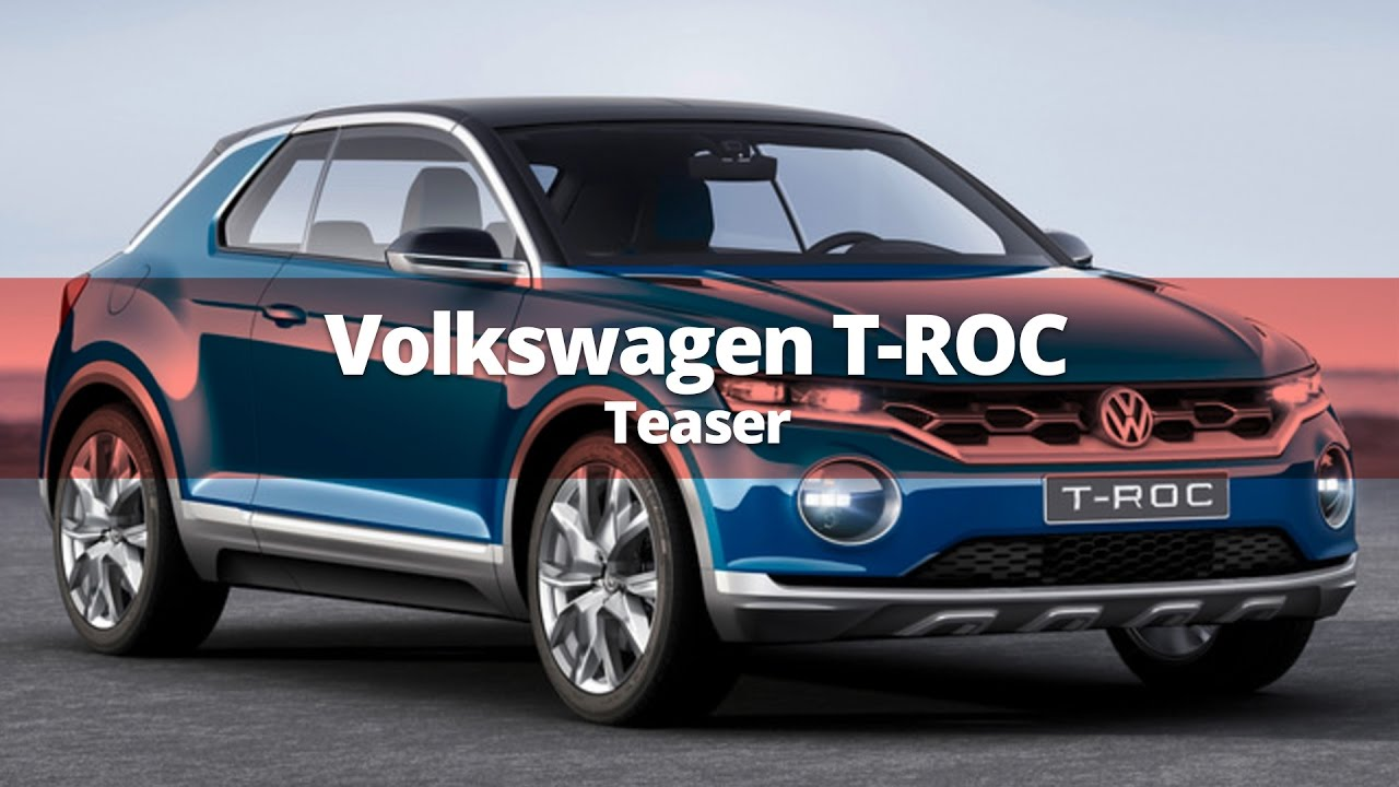 volkswagen t roc teased for 2018 youtube. Black Bedroom Furniture Sets. Home Design Ideas