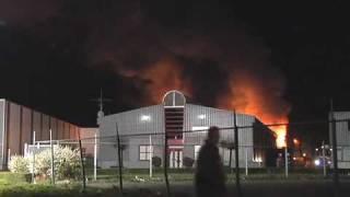 Brand op industrieterrein Tichelrijt in Dongen