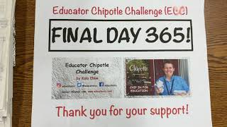 Educator Chipotle Challenge (ECC) Statistics For 365 Days