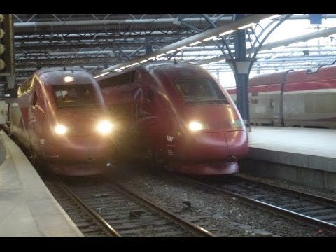 Thalys & more in Brussels Midi/Zuid station, Belguim