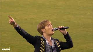 180223 JAEJOONG J League Opener ~Bouquet ceremony & Halftime Show ♪Good Morning Night~