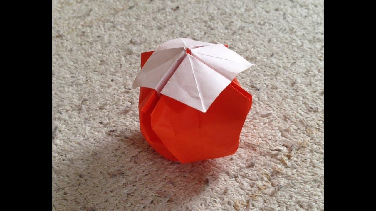 すべての折り紙 かぶと 折り紙 作り方 : 柿 折り紙 立体 折り方 作り方 ...