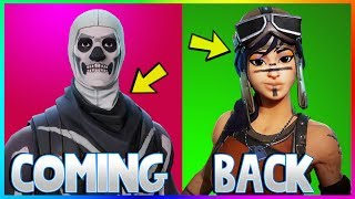 5 SKINS YOU WANT TO RETURN IN FORTNITE! (Fortnite Battle Royale)