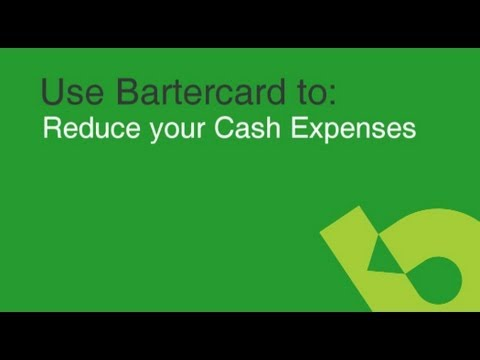 Use Bartercard to reduce your cash expenses