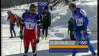Alsgaard vs. Zorzi 4 × 10 km relay 2002 Salt Lake City