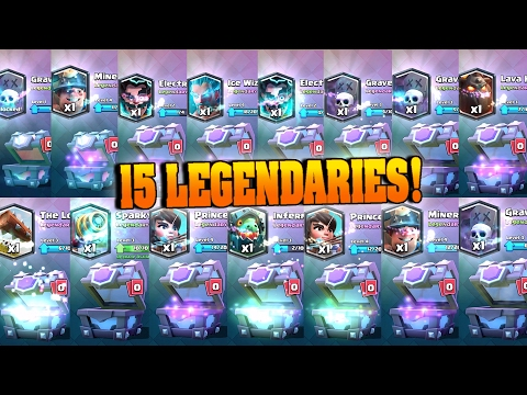 15 LEGENDARIES IN A ROW! 2 LEGENDARY CHESTS! Clash Royale - Best Legendary & SM Chest Opening!
